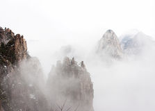 China Huangshan. Misty,very spectacular Stock Image