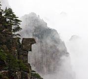 China Huangshan. Huangshan in winter, the foggy, a little snow royalty free stock images