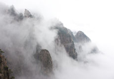 China Huangshan. The misty winter Huangshan views Royalty Free Stock Photos