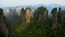 China  hunan Western  Famous mountains  Zhangjiajie Huangshi Village. China  hunan Western  Zhangjiajie  Natural scenery  Famous mountains  Tourism  Huangshi Stock Photography