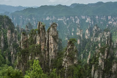 China  hunan Western  Famous mountains  Zhangjiajie. China  hunan Western  Zhangjiajie  Natural scenery  Famous mountains  Tourism     Movie Avatar    Shooting Royalty Free Stock Image