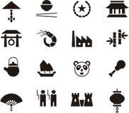 China icon set Royalty Free Stock Photography