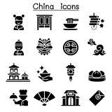 China icon set. Vector illustration graphic design Stock Image