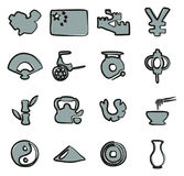 China Icons Freehand 2 Color Royalty Free Stock Images