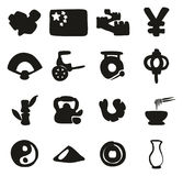 China Icons Freehand Fill Royalty Free Stock Photography