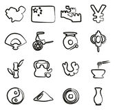 China Icons Freehand Stock Photos