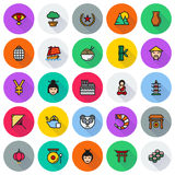 China icons set, Vector illustration. On white background Royalty Free Stock Image