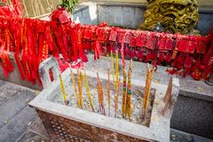 China incense stove. Chinese incense stove blessing culture Royalty Free Stock Photography