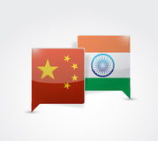 China and india message bubble Royalty Free Stock Photos