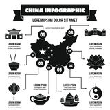 China infographic concept, simple style Stock Image