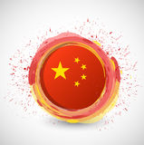 China ink circle flag illustration design Stock Images