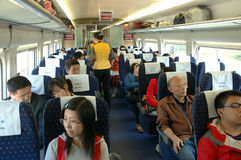 China - inside fast train Stock Image