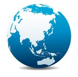 China, Japan, Malaysia, Thailand, Indonesia, Global World, Planet Earth Icon. China, Japan, Malaysia, Thailand, Indonesia, Vector Map Icon of the World Globe Stock Photo