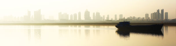 China, Jiangxi, Nanchang, city, river, river, lake Royalty Free Stock Images
