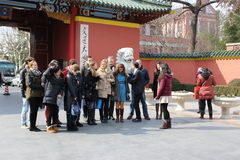 China jiaotong university, school shooting a group of people Stock Image