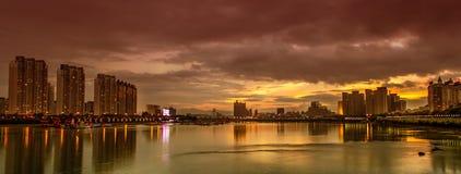 China Jilin. The sunset of Jilin China stock images