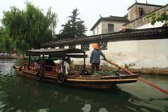 China ,Jinxi Water Village,People row a boat Stock Photography