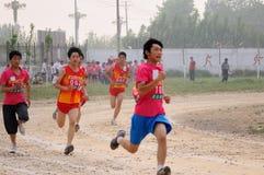 China: Jogos do atletismo do estudante Fotos de Stock