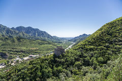China, Juyongguan. One of the towers of the Great Wall of China Royalty Free Stock Photos