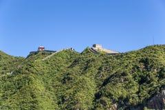 China, Juyongguan Sección del puesto avanzado y de la montaña de la Gran Muralla de China fotos de archivo