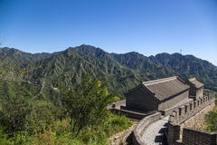 China, Juyongguan. Tower With The Construction Of The Great Wall Stock Photo