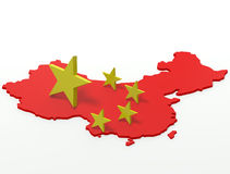China-Karte lizenzfreie abbildung