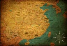 China-Karte Stockbild