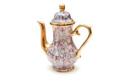 China kettle. Isolated on white royalty free stock photo