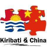 China and Kiribati flags in puzzle Stock Photos