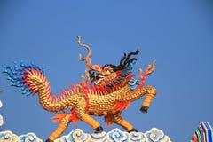 China kirin on the roof. China kirin statue on the roof of shrine stock image
