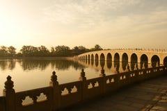 China-klassische Bogenbrücke Stockbild