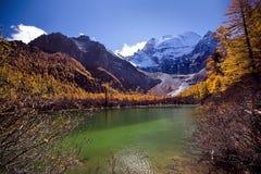 China Lake. And Mountain at Sichuan Stock Images
