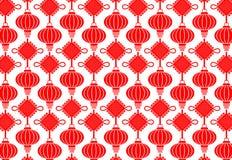 China Lamp Seamless Pattern Stock Photography