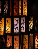 China lanterns. Many colorfully china lanterns are lighten bright in the darkness Stock Photography
