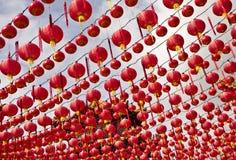 China lanterns at Thean Hou Temple, Kuala Lumpur Royalty Free Stock Image