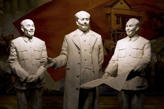 China leaders statue Royalty Free Stock Images