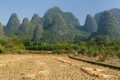 China - Li-river, Yangshuo. China - Guangxi Province - mountains along Lijiang River (Li-river) near Yangshuo Stock Image
