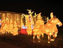 China lights gladiator royalty free stock photo