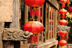 China - Lijiang. Lijiang old city, Wooden architecture detail, China. Yunnan province Royalty Free Stock Photos