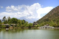 China lijiang. Black dragon pool, china lijiang yunnan stock photography