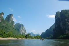 China Lijiang River. Scenic Li River in Guangxi Province, China Stock Photography