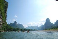 China Lijiang River. Scenic Li River in Guangxi Province, China Stock Photo