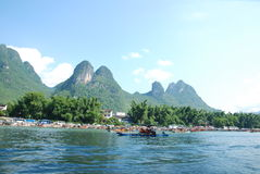China Lijiang River. Scenic Li River in Guangxi Province, China Stock Image