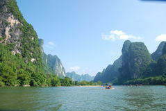 China Lijiang River. Scenic Li River in Guangxi Province, China Royalty Free Stock Photography