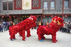 China lion dance Royalty Free Stock Photo