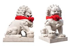 China lion statue in temple china Royalty Free Stock Photos