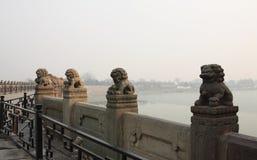 China Lugou Bridge Shishi Royalty Free Stock Images