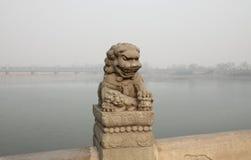 China Lugou Bridge Shishi Royalty Free Stock Photography