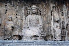 China/Luoyang: Grottoes de Longmen foto de stock royalty free