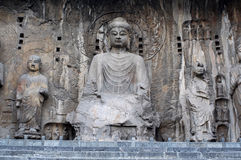 China/Luoyang: Longmen Grotten Lizenzfreies Stockfoto